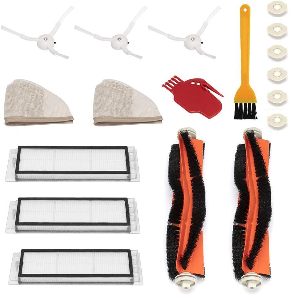WEYO Kit Recambios Repuestos y Accesorios para Aspiradora Xiaomi Aspirador Roborock S50 S51 S55 S5 S6 Roborock 2 Xiaomi MI Mijia Robot, Filtro HEPA, Cepillo Central, Cepillo Lateral y Rodillos etc.