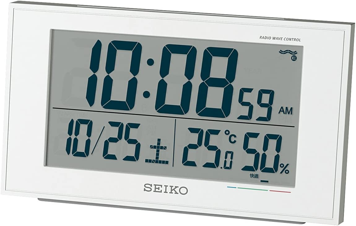 CLOCK SEIKO Seiko alarm clock temperature display humidity display comfort display radio clock SQ758W SQ758W