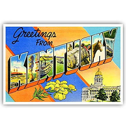 Amazon greetings from kentucky vintage reprint postcard set of greetings from kentucky vintage reprint postcard set of 20 identical postcards large letter us state m4hsunfo