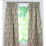 Brite Ideas Living Laurel Bloodstone Rod Pocket Curtain Panel, 54 by 96