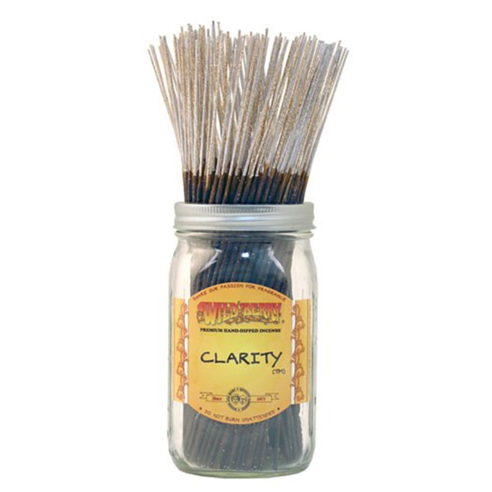 WILDBERRY Clarity, Highly Fragranced Incense Sticks Bulk Pack, 100 Pieces, 11-inch