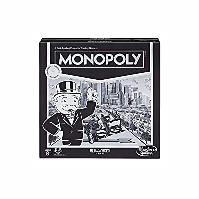 Monopoly Silver Line Exclusive Premium Board Game - New Modern Style with Foil Board: Toys & Games