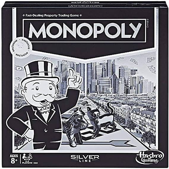 Hasbro Monopoly Property Trading Board Game Silver Line Gaming 2-6 Players: Amazon.es: Juguetes y juegos