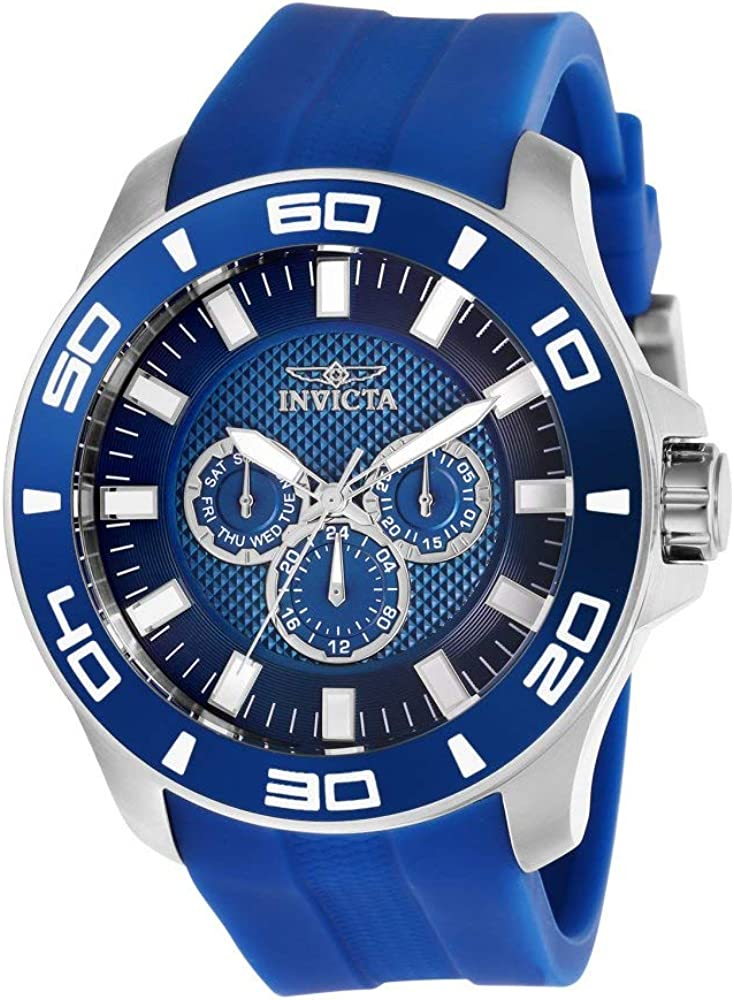Invicta Men s Pro Diver Stainless Steel Quartz Watch with Silicone Strap, Blue, 26 Model 28003