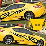 EDTara Decal Sticker ,Cars Decoration, Decals Car Stickers Full Body Car Styling Vinyl for ,3D Flame Totem