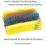 Ltvystore 1280pcs 64 Values 1 ohm - 10M ohm 1/4W
