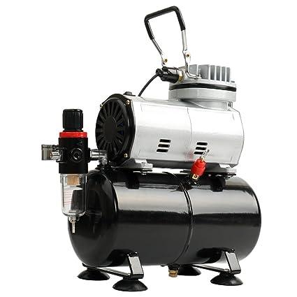 KKmoon EU Compresor de aire silencioso sin aceite profesional de alta eficiencia Bomba de alta presión