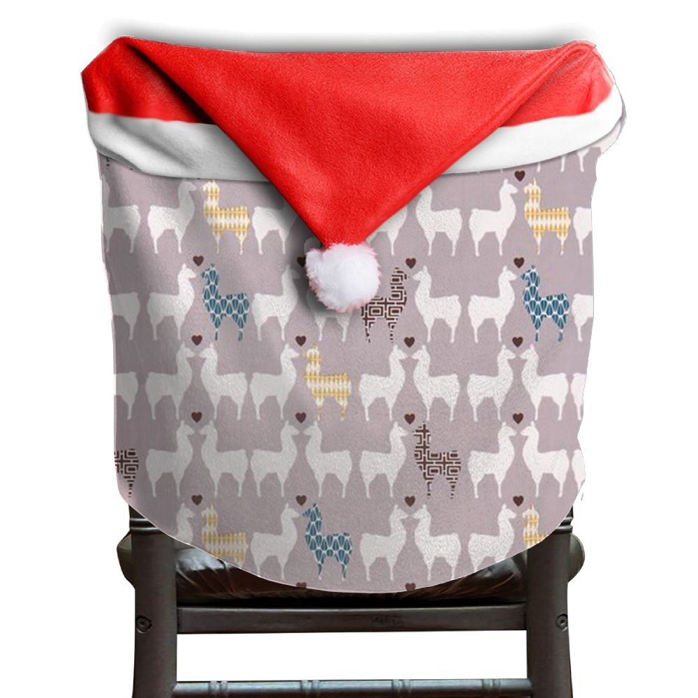 Llama Animal Christmas Chair Covers STYLISH Red Chair Covers For Christmas For Boyfriends Chair Back Covers Holiday Festive
