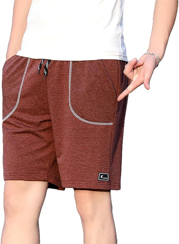hibote Hombre Pantalones Cortos Deportivos - Bermudas Pantalones ...