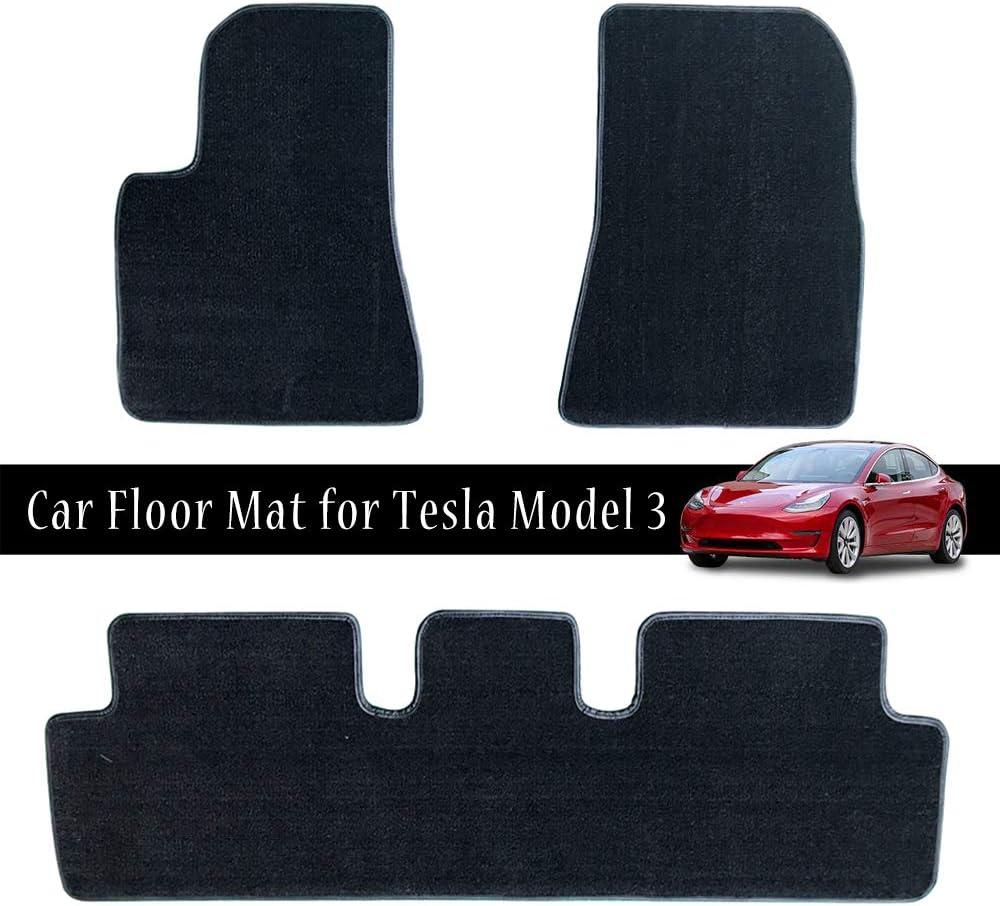 Auto Fußmatten Set Heavy Duty All Weather Wasserdicht Custom Fit Einfache Installation Car Carpet Pad Matte Für Tesla Model 3 3 Pcs Auto