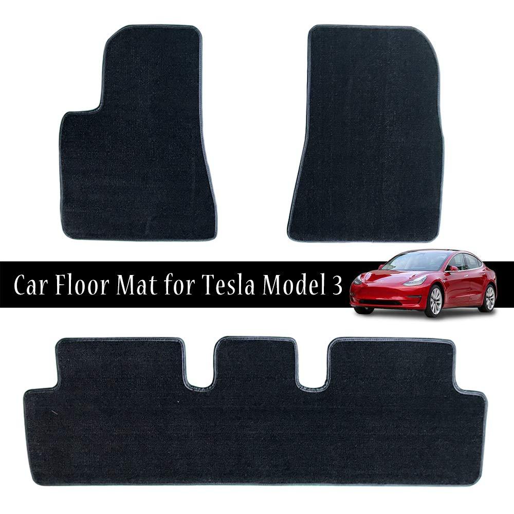Impermeabile All Weather Personalizzato Set tappetini per auto 3 PCS Resistente Tappetino per moquette per auto Tesla Model 3 Facile installazione
