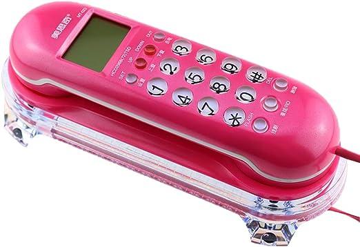 Phone Teléfono Fijo con conexión de Cable, teléfono Fijo montado en la Pared Antiguo montado en la Pared del teléfono, Hotel casero Retro, pequeña máquina Colgante, teléfono de Escritorio: Amazon.es: Hogar