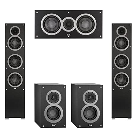 Elac 50 System With 2 Debut F5 Floorstanding Speakers 1 C5 Center Speaker