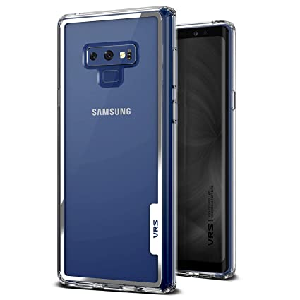 Note 9 Case, VRS Design [Transparent] Crystal Clear Heavy Duty Protection [Crystal Chrome] Anti-Yellowing Acryl Back TPU Bumper Galaxy Note 9 (2018)