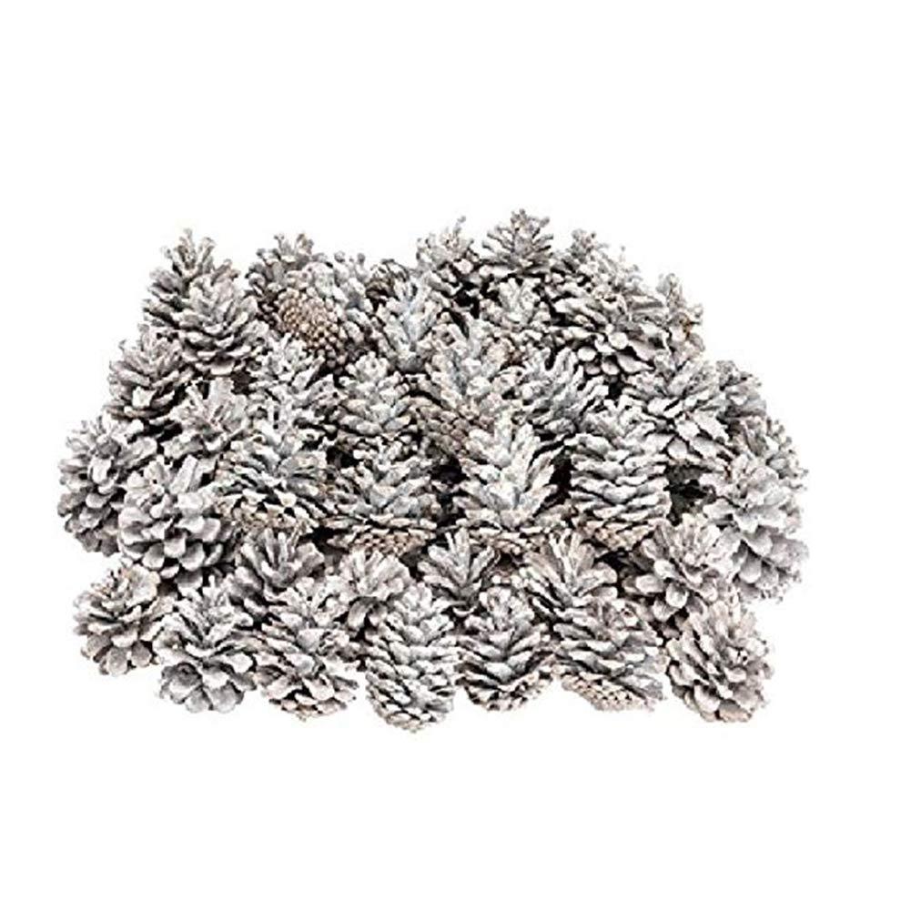 Mudacun Ornements Pinecone Pommes de pin Noë l avec des Pommes de pin Blanc de Neige pour la Maison Party Decoration Supplies 18 Pcs