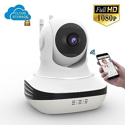 Careeach Cámara de seguridad para el hogar, Full HD WiFi 1080P Cámara de vigilancia IP