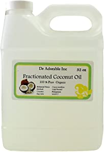 32 Oz Fractionated Coconut Oil Pure Organic Raw by Dr.Adorable