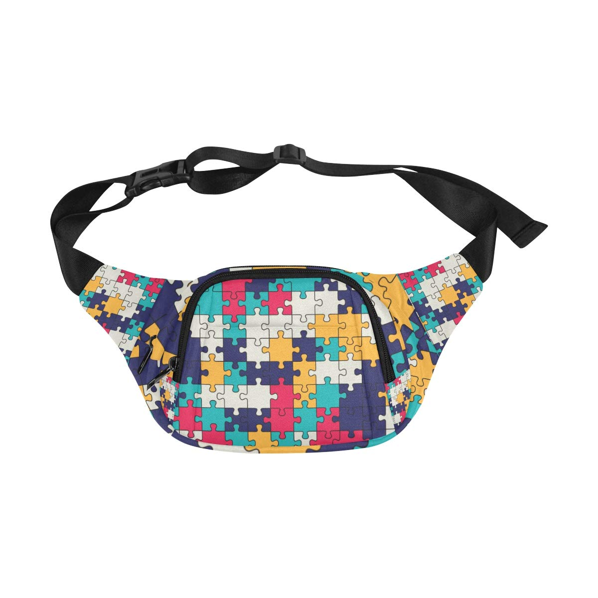 Colorful Shiny Puzzle Hobby Activity Fenny Packs Waist Bags Adjustable Belt Waterproof Nylon Travel Running Sport Vacation Party For Men Women Boys Girls Kids