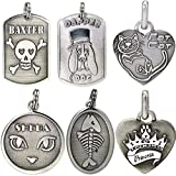Bailey & Bailey MG-Embossed Sterling Customized 3D Cat/Dog ID Tags, One Size, Silver