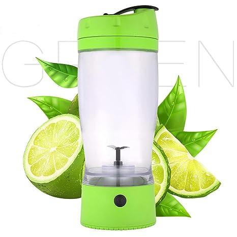 Compra Pawaca - Vaso eléctrico con batería para Hacer zumos y batidora de Frutas, 650 ML (versión actualizada), Polipropileno, Verde, Talla única en Amazon. ...