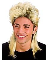 Mens Blonde 80's Retro Mullet Wig