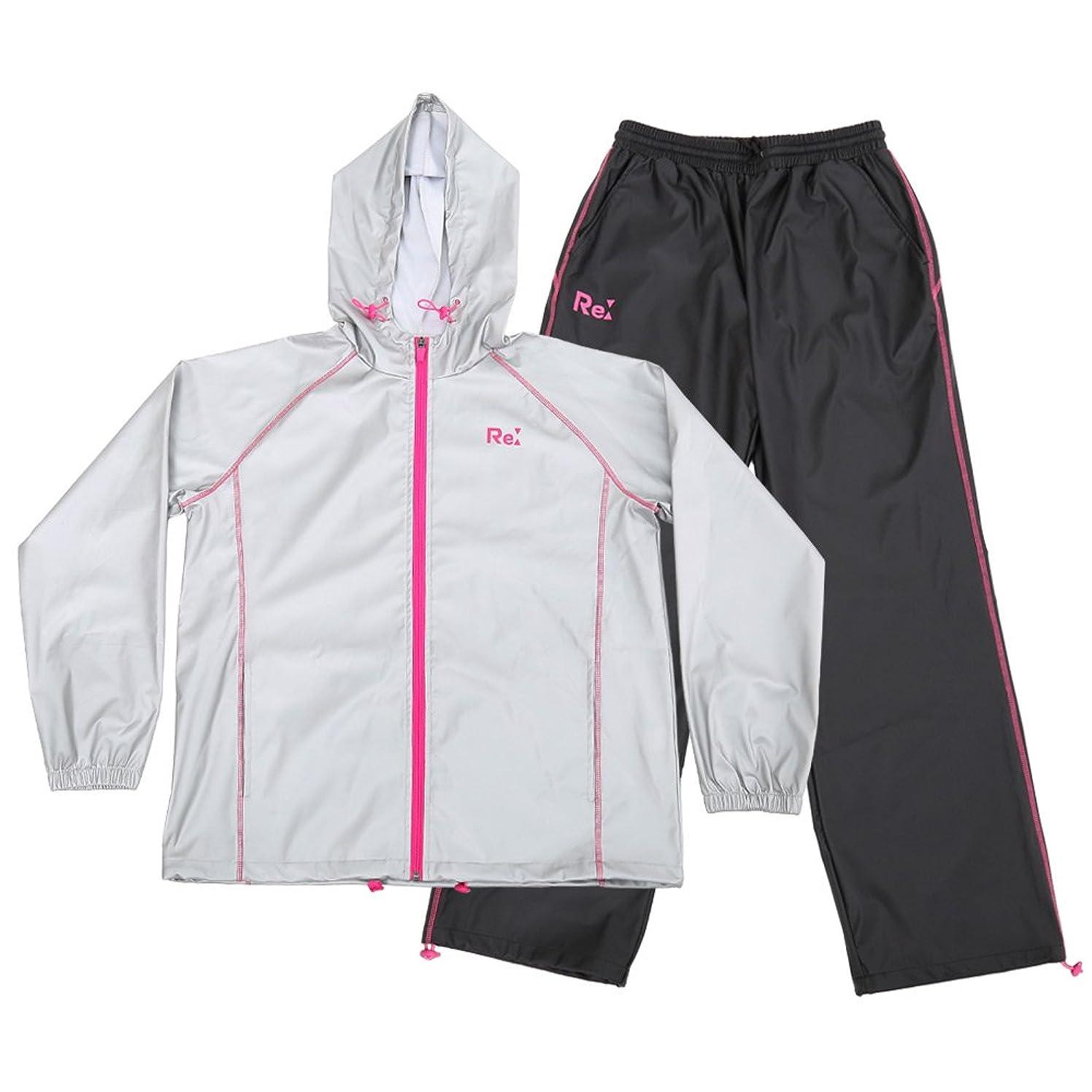 軍対応する量I-select サウナスーツ 激やせ 脂肪燃焼 サポート 代謝アップ 大量発汗 減量 ダイエットウェア M