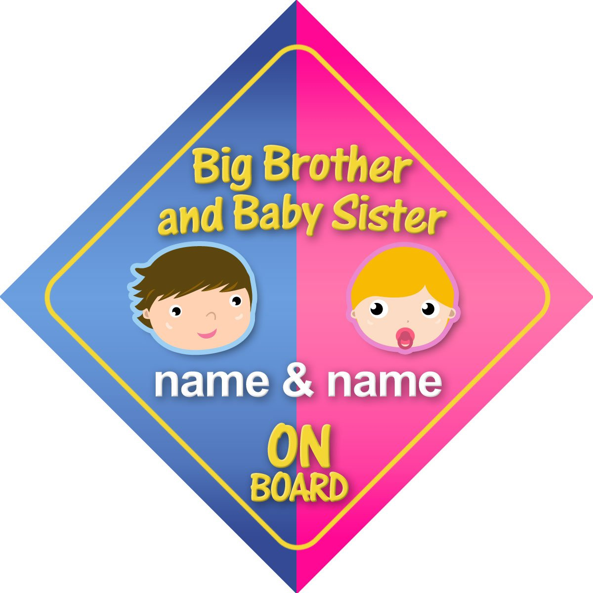 Baby Boy Riley on board novelty car sign gift//present for new child//newborn baby