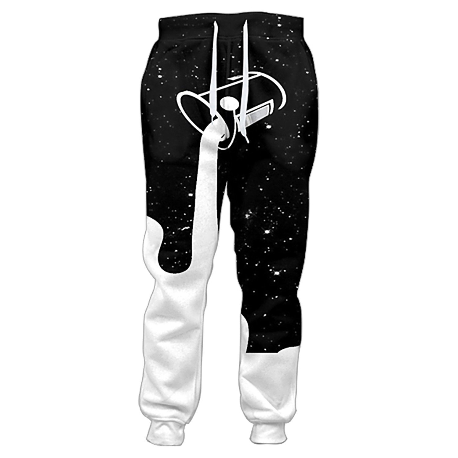Catwomanfun Pants Men Pouring Into The Starry Night Sky To Fill Up The Galaxy Glass Of Milk 3d Print Sweatpants Casual Trousers Milk Bucket Pants XXXL at ...
