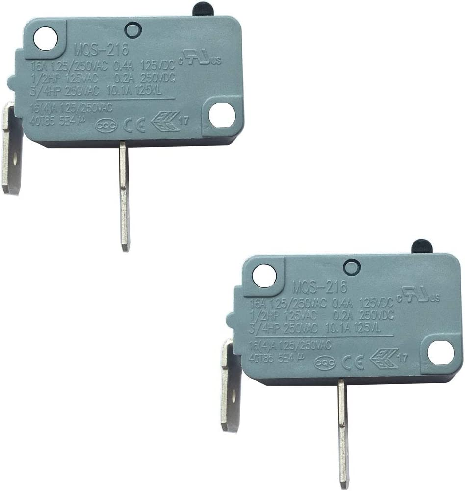 LONYE WD21X10224 Dishwasher Door Interlock Switch Replacement for GE Hotpoint Dishwasher MQS-216 1168295 AP3872949 PS1021382(Normally Open)(Pack of 2)