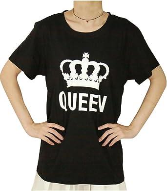 Minetom Hommes Femmes Dété Base Lovers Amoureux Mr Never Right Et Mrs Always Right Lettre Imprimé Couple Couronne King Queen Lettre Hubby Wifey