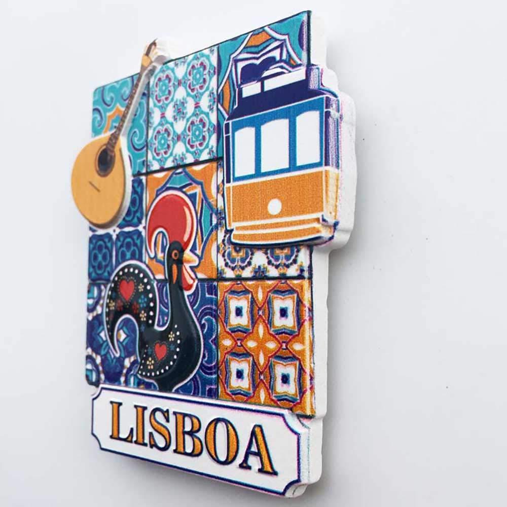 3D Lisbonne Portugal R/éfrig/érateur R/éfrig/érateur Aimant Touristique Souvenirs /À La Main R/ésine Artisanat Magn/étique Autocollants Maison Cuisine D/écoration Voyage Cadeau