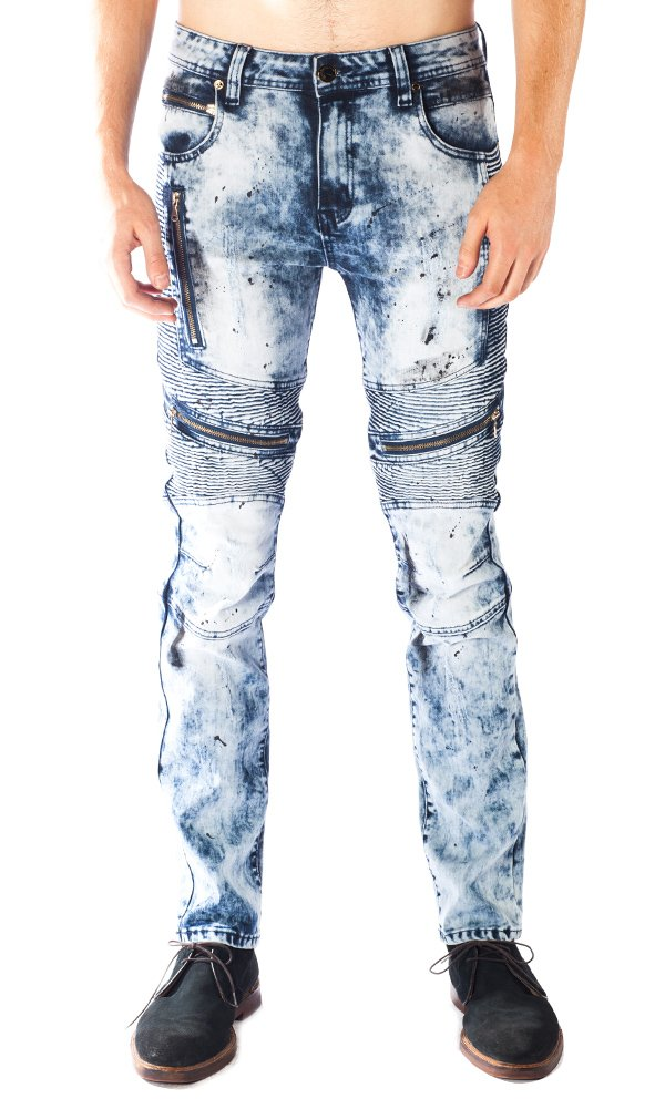 ''Freestyle'' Gold Leaf Blue Men's Jeans 40