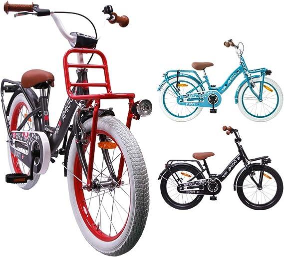 AMIGO Bloom - Bicicleta infantil de 18 pulgadas para niña, con ...