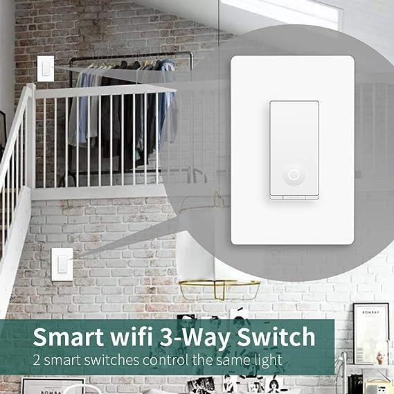 Amazon.com: 3 Way Smart Light Switch, WiFi Light 3-way ...