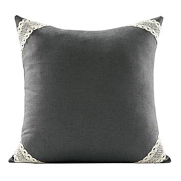 Amazon.com: HONGNA Almohada de algodón y lino de cuatro ...