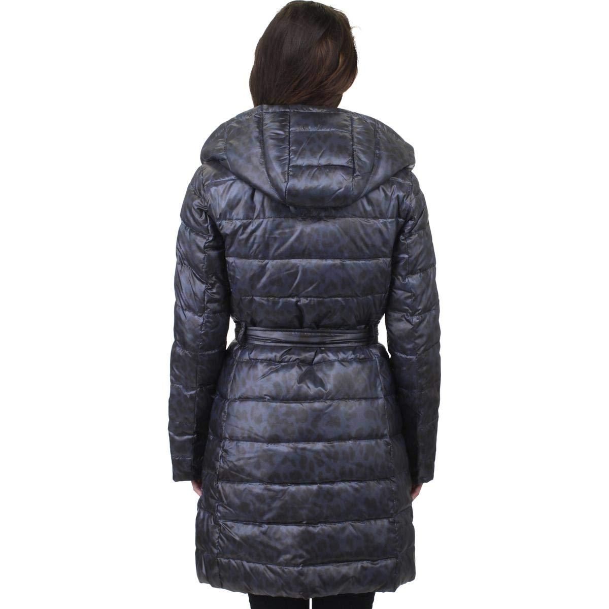 e72d66acdc22 ELLEN TRACY Women s Leopard Print Long Hooded Faux Down Winter Coat Jacket  at Amazon Women s Coats Shop