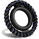 Silicone Dual Penis Ring, Premium Stretchy Longer Harder Stronger Erection Cock Ring Better Sex Erection Enhancing and Orgasm