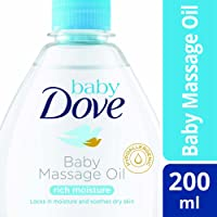 Baby Dove Rich Moisture Baby Massage Oil, 200 ml