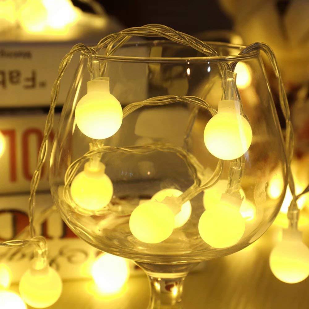 CSKB Waterproof String Lights, 10m/32ft 100 Globe String Lights,Decorative Lights Bedroom, Patio, Garden, Gate, Yard, Parties(Safety Plug Powered)