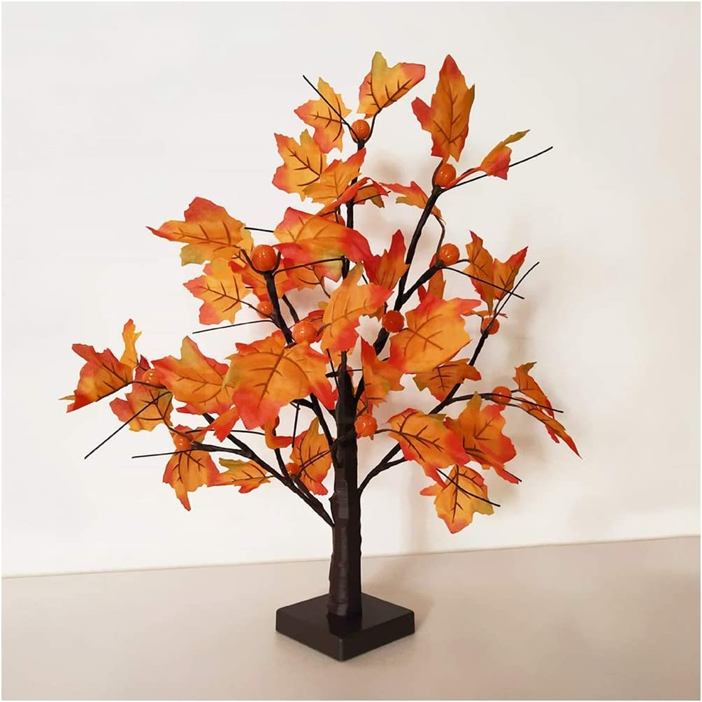 Artificial Plants Flowers Whonline Lighted Fall Maple Tree Table Centerpiece Fall Decor 24 Led Battery Powered For Table Home Wedding Party Indoor Outdoor Decoration Home Kitchen Ortopediasaojose Com Br