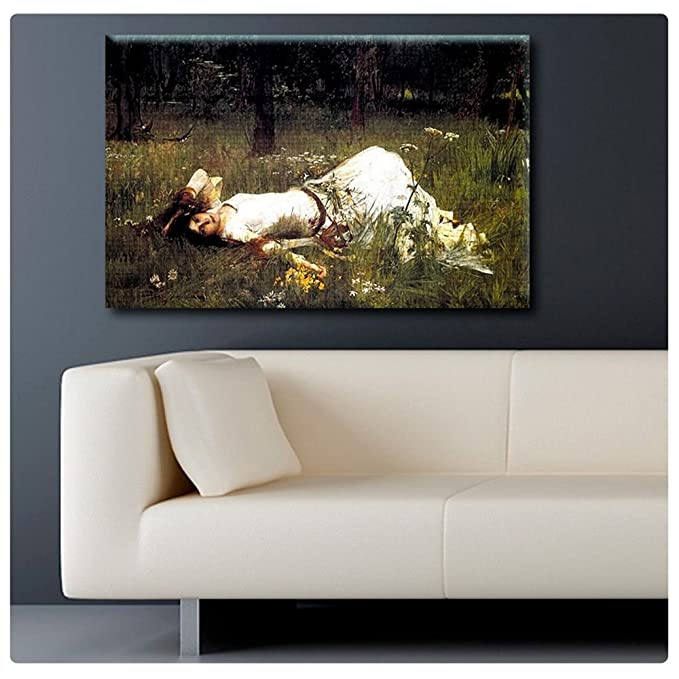 OPHELIA OF WILLIAM SHAKESPEARE HAMLET OIL PAINTING ART REAL CANVAS GICLEE PRINT