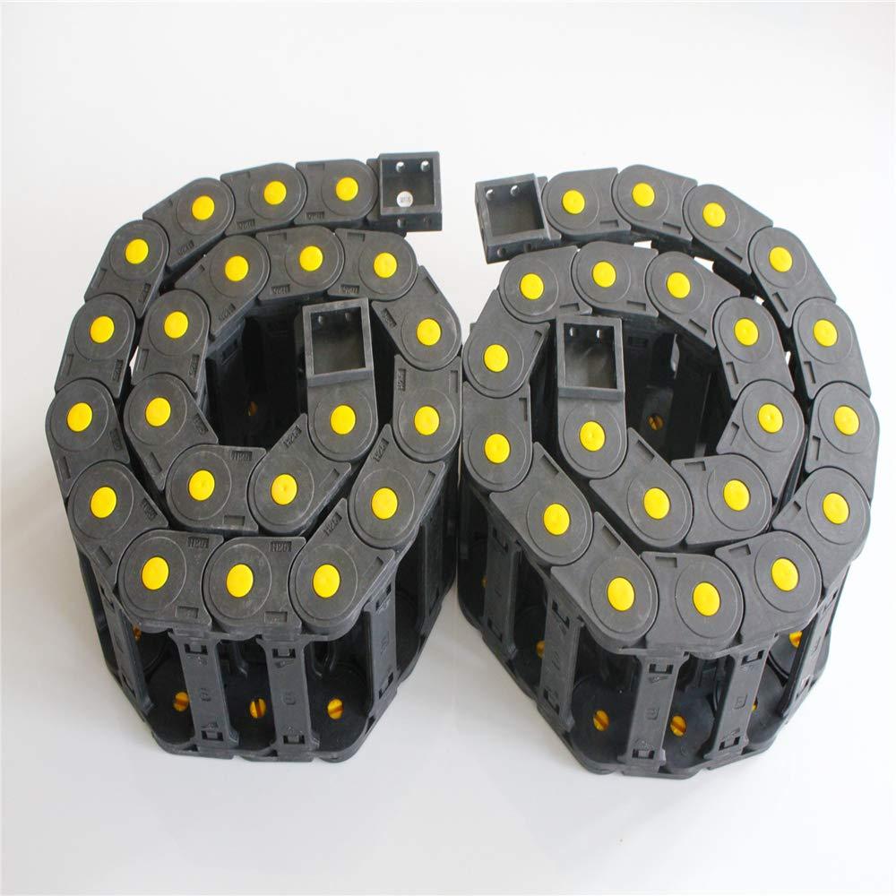 CNCCANEN 2m 25mm x 77mm Black Plastic Open Type Cable Drag Chain Wire Carrier R55 for CNC DIY by CNCCANEN