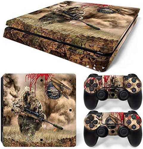 46 North Design Ps4 Slim Playstation 4 Slim Pegatinas De La Consola Sniper Camouflage + 2 Pegatinas Del Controlador: Amazon.es: Videojuegos
