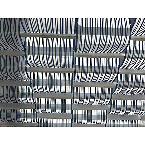 Cheap Alion Home Roman Shade Panel Cover HDPE Permeable Canopy for Pergola, Patio, Porch (3′ x 40′, Dark Grey & White)