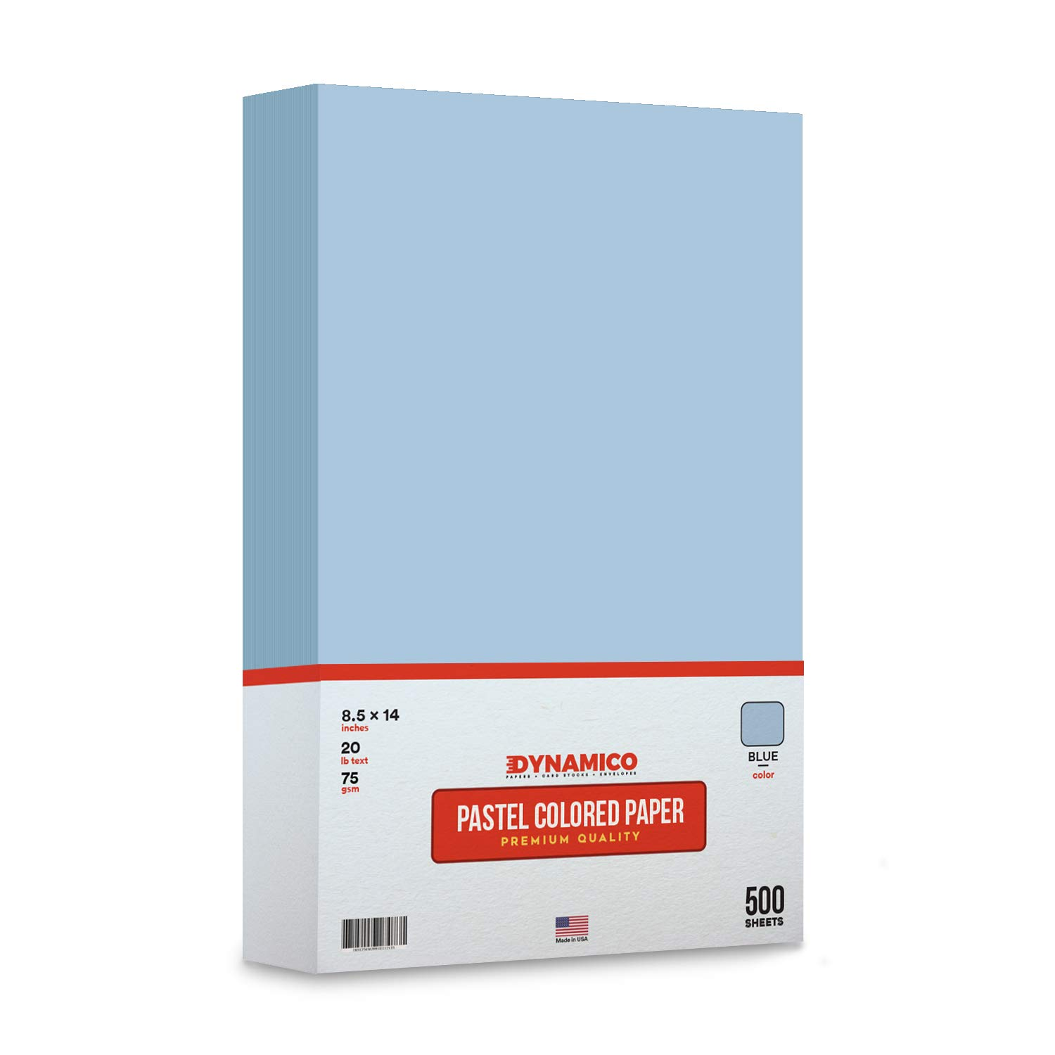 Blue 8.5 x 14'' Legal Size Pastel Light Color Paper | 1 Ream of 500 Sheets