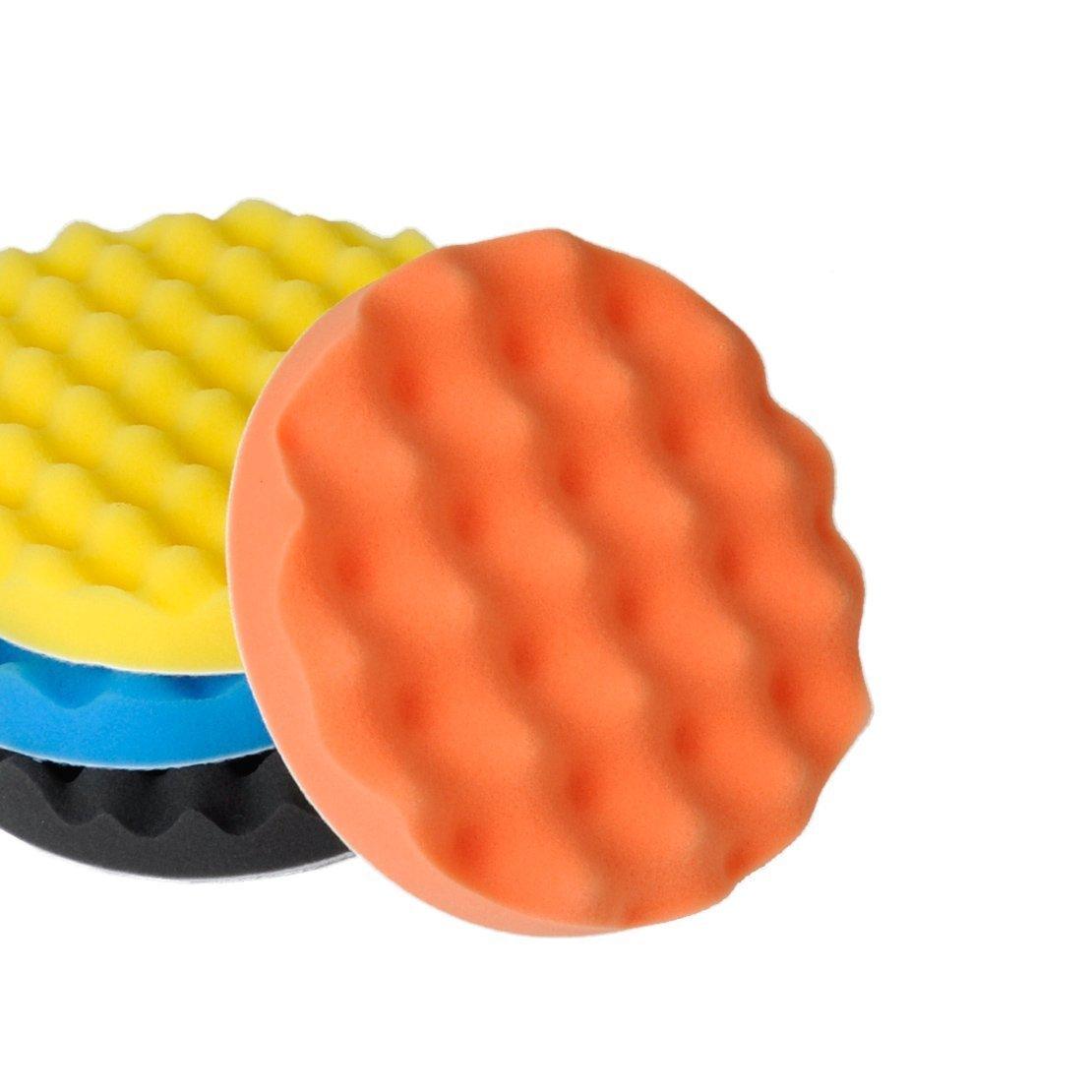 SHINA 4Pcs 7 inch Buffing Polishing Sponge Pads Kit For Car Polisher Buffer by SHINA (Image #4)