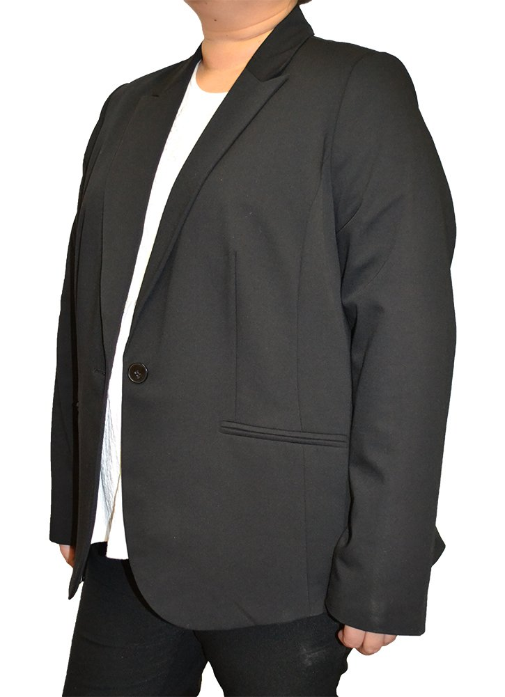 Alfa Global Women's Plus Size Casual Black Color Blazer (22, Black678)