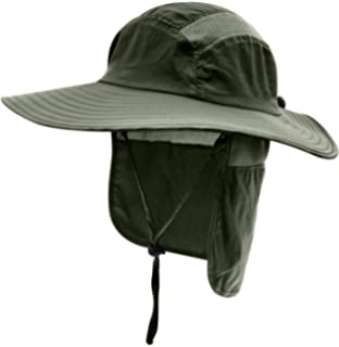 eee8c5190b3 Home Prefer Mens UPF 50+ Sun Protection Cap Wide Brim Fishing Hat with Neck  Flap