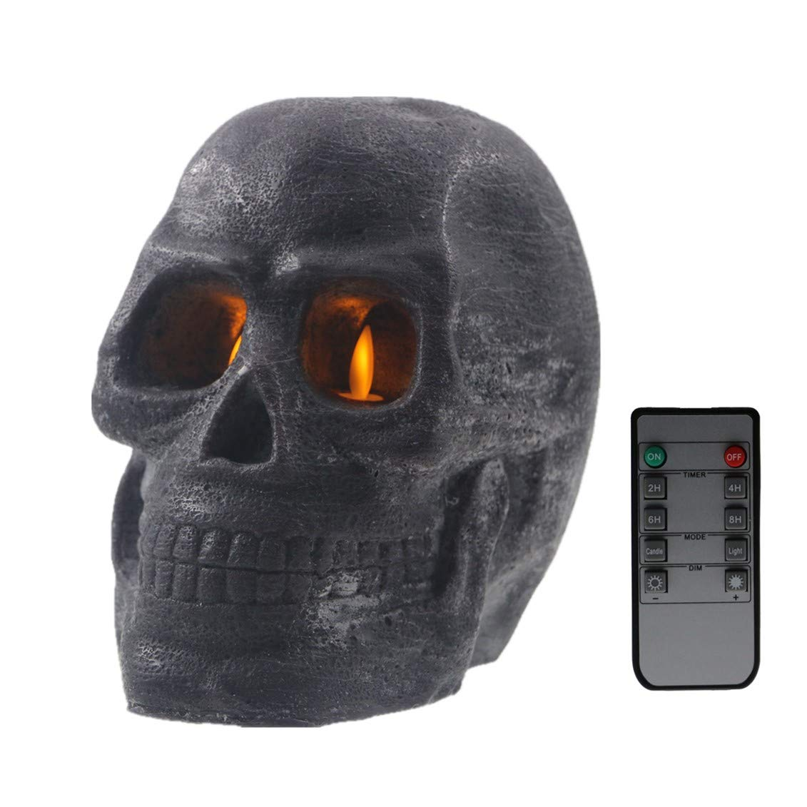 Kitch Aroma Real Wax Figural Skull Flameless Candles,Halloween LED Candles (Black) by Kitch Aroma