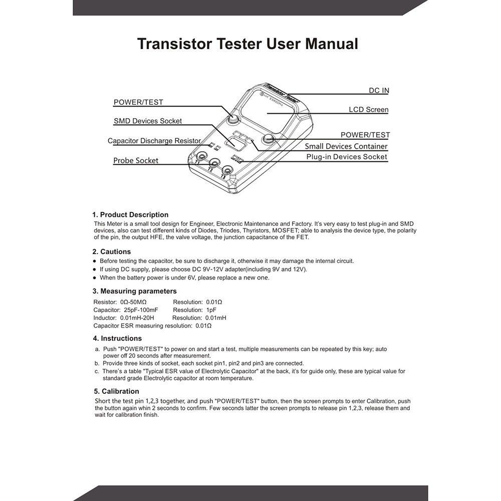 Zorbes Bside Esr02 Pro Digital Transistor Tester Diode Mosfet Testing Circuit Electronics
